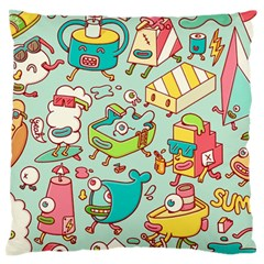 Summer Up Pattern Standard Flano Cushion Case (one Side)