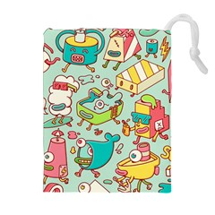 Summer Up Pattern Drawstring Pouches (extra Large) by Nexatart