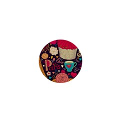 Cute Colorful Doodles Colorful Cute Doodle Paris 1  Mini Magnets