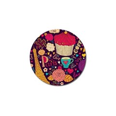 Cute Colorful Doodles Colorful Cute Doodle Paris Golf Ball Marker (4 Pack) by Nexatart