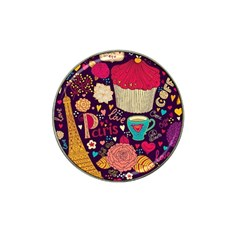 Cute Colorful Doodles Colorful Cute Doodle Paris Hat Clip Ball Marker by Nexatart