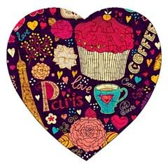 Cute Colorful Doodles Colorful Cute Doodle Paris Jigsaw Puzzle (heart) by Nexatart