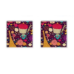 Cute Colorful Doodles Colorful Cute Doodle Paris Cufflinks (square)