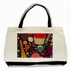 Cute Colorful Doodles Colorful Cute Doodle Paris Basic Tote Bag by Nexatart