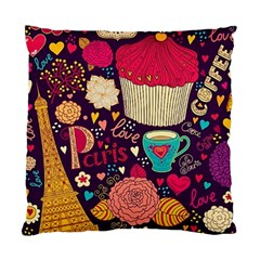 Cute Colorful Doodles Colorful Cute Doodle Paris Standard Cushion Case (one Side) by Nexatart