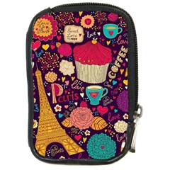 Cute Colorful Doodles Colorful Cute Doodle Paris Compact Camera Cases by Nexatart