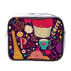 Cute Colorful Doodles Colorful Cute Doodle Paris Mini Toiletries Bags by Nexatart