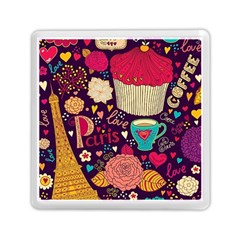 Cute Colorful Doodles Colorful Cute Doodle Paris Memory Card Reader (square)  by Nexatart