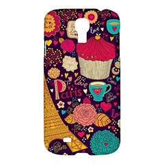 Cute Colorful Doodles Colorful Cute Doodle Paris Samsung Galaxy S4 I9500/i9505 Hardshell Case by Nexatart