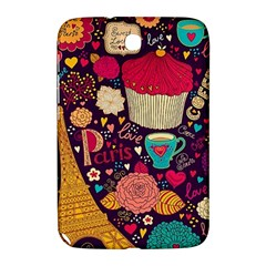 Cute Colorful Doodles Colorful Cute Doodle Paris Samsung Galaxy Note 8 0 N5100 Hardshell Case  by Nexatart