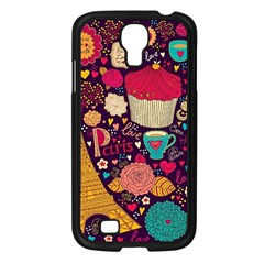 Cute Colorful Doodles Colorful Cute Doodle Paris Samsung Galaxy S4 I9500/ I9505 Case (black) by Nexatart