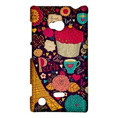 Cute Colorful Doodles Colorful Cute Doodle Paris Nokia Lumia 720 by Nexatart