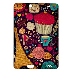 Cute Colorful Doodles Colorful Cute Doodle Paris Amazon Kindle Fire Hd (2013) Hardshell Case by Nexatart