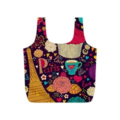 Cute Colorful Doodles Colorful Cute Doodle Paris Full Print Recycle Bags (s)