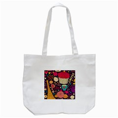 Cute Colorful Doodles Colorful Cute Doodle Paris Tote Bag (white)