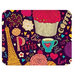 Cute Colorful Doodles Colorful Cute Doodle Paris Double Sided Flano Blanket (medium)  by Nexatart