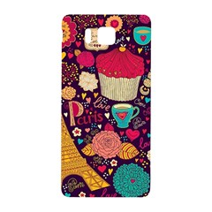 Cute Colorful Doodles Colorful Cute Doodle Paris Samsung Galaxy Alpha Hardshell Back Case by Nexatart
