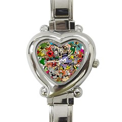 Hipster Wallpaper Pattern Heart Italian Charm Watch