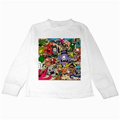 Hipster Wallpaper Pattern Kids Long Sleeve T Shirts