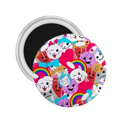 Cute Cartoon Pattern 2 25  Magnets by Nexatart