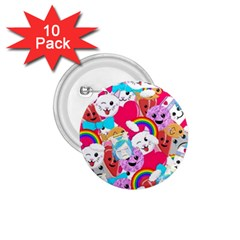 Cute Cartoon Pattern 1 75  Buttons (10 Pack)