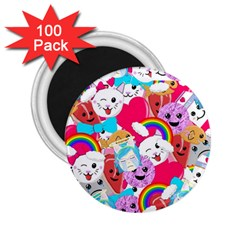 Cute Cartoon Pattern 2 25  Magnets (100 Pack)  by Nexatart