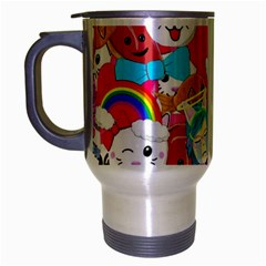 Cute Cartoon Pattern Travel Mug (silver Gray)
