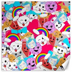 Cute Cartoon Pattern Canvas 12  X 12