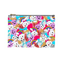 Cute Cartoon Pattern Cosmetic Bag (large)  by Nexatart