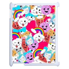Cute Cartoon Pattern Apple Ipad 2 Case (white) by Nexatart
