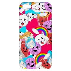 Cute Cartoon Pattern Apple Iphone 5 Hardshell Case by Nexatart