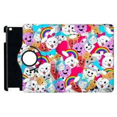 Cute Cartoon Pattern Apple Ipad 2 Flip 360 Case by Nexatart