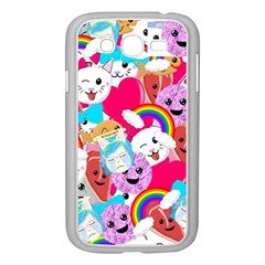 Cute Cartoon Pattern Samsung Galaxy Grand Duos I9082 Case (white) by Nexatart