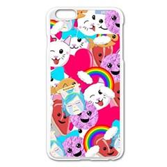Cute Cartoon Pattern Apple Iphone 6 Plus/6s Plus Enamel White Case