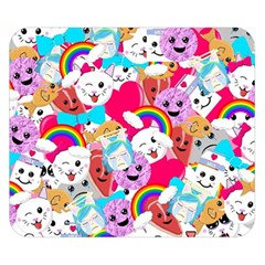 Cute Cartoon Pattern Double Sided Flano Blanket (small)