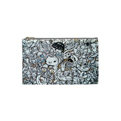Cute Doodles Cosmetic Bag (small)  by Nexatart
