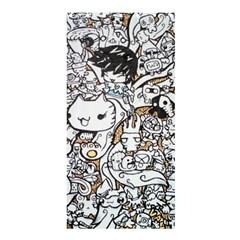 Cute Doodles Shower Curtain 36  X 72  (stall)  by Nexatart