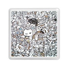 Cute Doodles Memory Card Reader (square)  by Nexatart