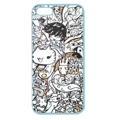 Cute Doodles Apple Seamless Iphone 5 Case (color) by Nexatart