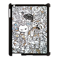 Cute Doodles Apple Ipad 3/4 Case (black) by Nexatart