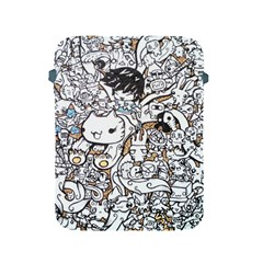 Cute Doodles Apple Ipad 2/3/4 Protective Soft Cases by Nexatart