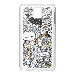 Cute Doodles Samsung Galaxy Note 3 N9005 Case (white) by Nexatart