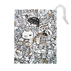 Cute Doodles Drawstring Pouches (extra Large)