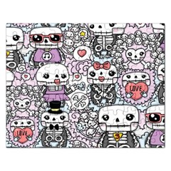 Kawaii Graffiti And Cute Doodles Rectangular Jigsaw Puzzl by Nexatart