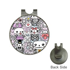 Kawaii Graffiti And Cute Doodles Hat Clips With Golf Markers by Nexatart