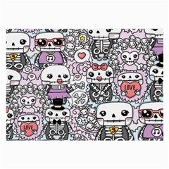 Kawaii Graffiti And Cute Doodles Large Glasses Cloth by Nexatart