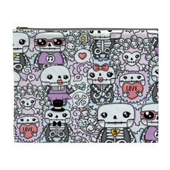 Kawaii Graffiti And Cute Doodles Cosmetic Bag (xl) by Nexatart