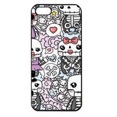 Kawaii Graffiti And Cute Doodles Apple Iphone 5 Seamless Case (black)