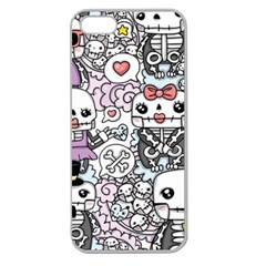 Kawaii Graffiti And Cute Doodles Apple Seamless Iphone 5 Case (clear) by Nexatart