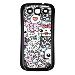 Kawaii Graffiti And Cute Doodles Samsung Galaxy S3 Back Case (black) by Nexatart